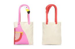 Stella McCartney Flamingo canvas bag